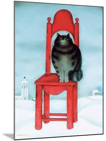 Red Chair, 1995-David Khaikin-Mounted Giclee Print