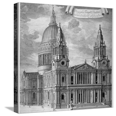 St Paul's Cathedral, City of London, C1715-Robert Trevitt-Stretched Canvas Print