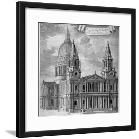 St Paul's Cathedral, City of London, C1715-Robert Trevitt-Framed Art Print