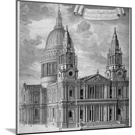 St Paul's Cathedral, City of London, C1715-Robert Trevitt-Mounted Giclee Print