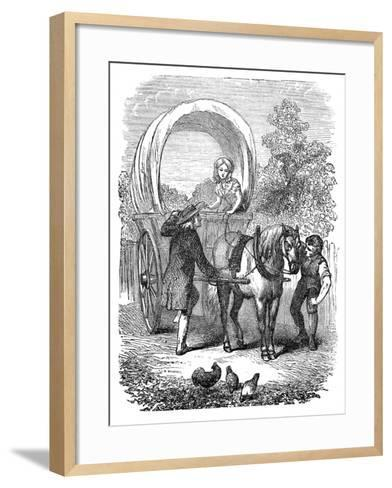 Country Carrier's Wagon with Hood, C1882--Framed Art Print
