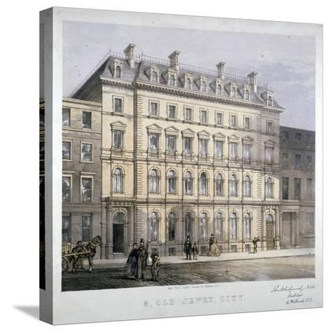 No 8 Old Jewry, City of London, C1865--Stretched Canvas Print