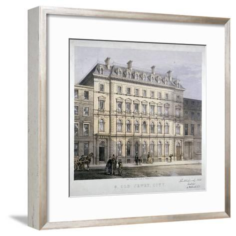 No 8 Old Jewry, City of London, C1865--Framed Art Print