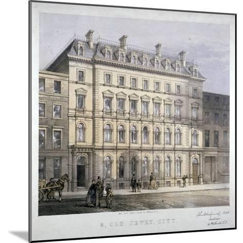 No 8 Old Jewry, City of London, C1865--Mounted Giclee Print