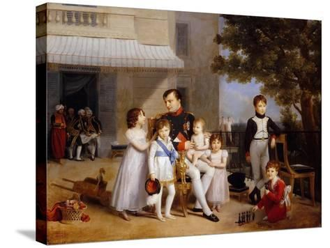 The Emperor Napoleon I on the Terrace of the Château Saint-Cloud Surrounded by His Children-Louis Ducis-Stretched Canvas Print