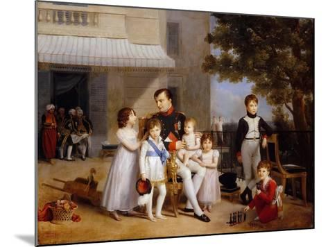 The Emperor Napoleon I on the Terrace of the Château Saint-Cloud Surrounded by His Children-Louis Ducis-Mounted Giclee Print