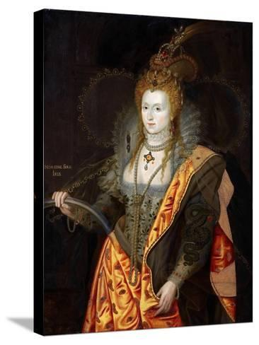 Portrait of Elizabeth I of England, in Ballet Costume as Iris-George Peter Alexander Healy-Stretched Canvas Print