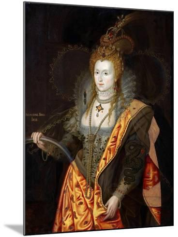 Portrait of Elizabeth I of England, in Ballet Costume as Iris-George Peter Alexander Healy-Mounted Giclee Print