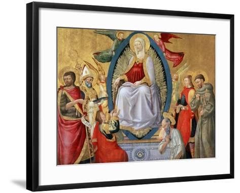 The Assumption of the Blessed Virgin Mary, 1464-1465-Neri Di Bicci-Framed Art Print