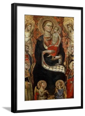 Madonna with Child, Saints and Angels, Late 14th or Early 15th Century-Niccolo di Pietro Gerini-Framed Art Print