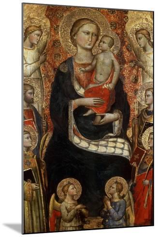 Madonna with Child, Saints and Angels, Late 14th or Early 15th Century-Niccolo di Pietro Gerini-Mounted Giclee Print