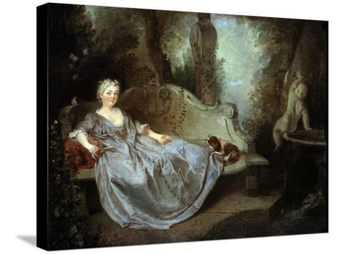 A Lady in a Garden, 18th Century-Nicolas Lancret-Stretched Canvas Print