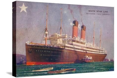 Twin-Screw RMS Adriatic of the White Star Line, C1907--Stretched Canvas Print