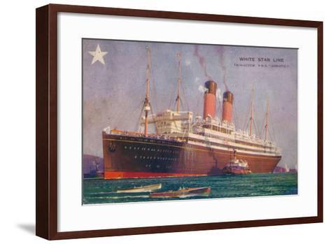 Twin-Screw RMS Adriatic of the White Star Line, C1907--Framed Art Print