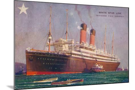 Twin-Screw RMS Adriatic of the White Star Line, C1907--Mounted Giclee Print