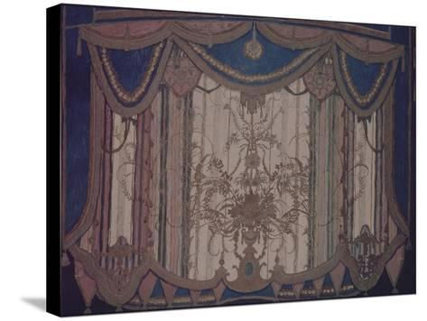 Design of Curtain for the Theatre Play the Masquerade by M. Lermontov, 1917-Alexander Yakovlevich Golovin-Stretched Canvas Print