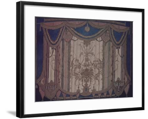 Design of Curtain for the Theatre Play the Masquerade by M. Lermontov, 1917-Alexander Yakovlevich Golovin-Framed Art Print