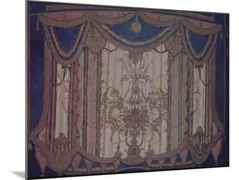Design of Curtain for the Theatre Play the Masquerade by M. Lermontov, 1917-Alexander Yakovlevich Golovin-Mounted Giclee Print