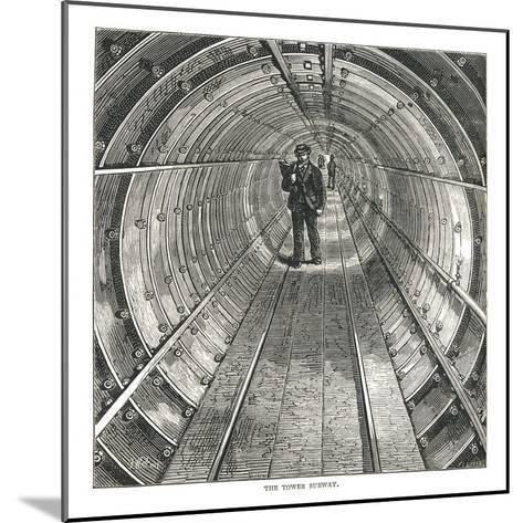The Tower Tunnel, 1878-Walter Thornbury-Mounted Giclee Print