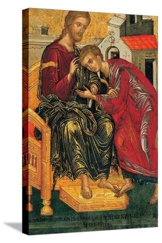 Christ Giving the Benediction to John the Evangelist, C. 1450-Andreas Ritzos-Stretched Canvas Print