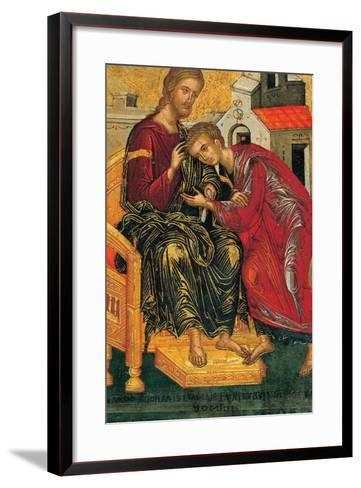 Christ Giving the Benediction to John the Evangelist, C. 1450-Andreas Ritzos-Framed Art Print