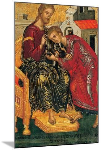 Christ Giving the Benediction to John the Evangelist, C. 1450-Andreas Ritzos-Mounted Giclee Print