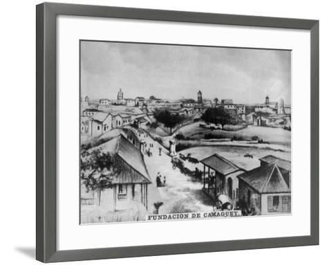 The Foundation of Camagüey, Cuba, C1910--Framed Art Print