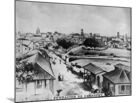 The Foundation of Camagüey, Cuba, C1910--Mounted Giclee Print