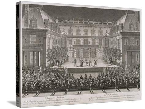 Jean-Baptiste Lully's Opera Alceste Being Performed in the Marble Courtyard-Jean le Pautre-Stretched Canvas Print