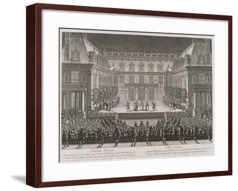 Jean-Baptiste Lully's Opera Alceste Being Performed in the Marble Courtyard-Jean le Pautre-Framed Art Print