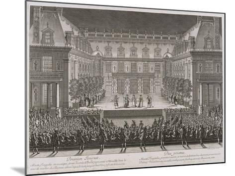 Jean-Baptiste Lully's Opera Alceste Being Performed in the Marble Courtyard-Jean le Pautre-Mounted Giclee Print