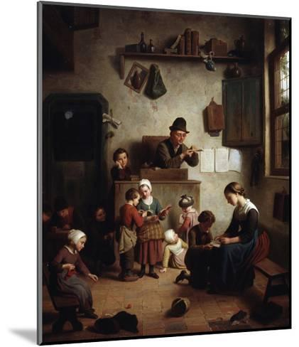 In the School, Early 19th Century--Mounted Giclee Print