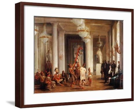 Dance by Iowa Indians in the Salon De La Paix at the Tuileries-Karl Girardet-Framed Art Print