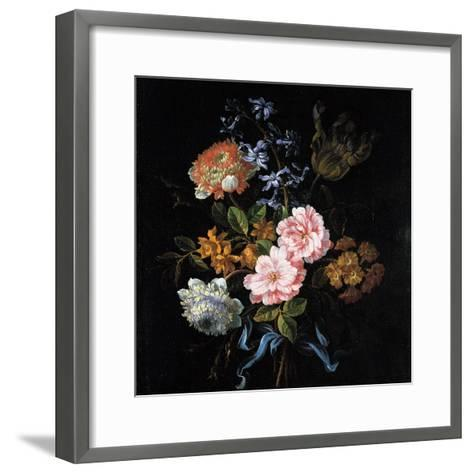 Bouquet of Poppy Anemones, Roses, Double Campernelle, Hyacinth, Tulip and Auricula-Jean-Baptiste Monnoyer-Framed Art Print