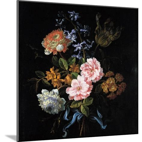 Bouquet of Poppy Anemones, Roses, Double Campernelle, Hyacinth, Tulip and Auricula-Jean-Baptiste Monnoyer-Mounted Giclee Print