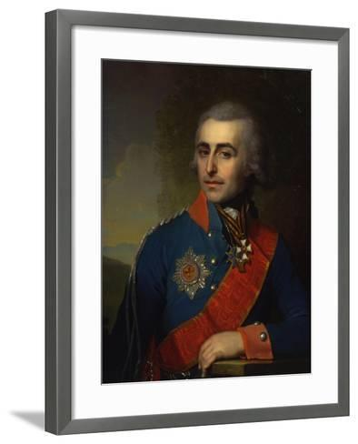 Portrait of the General-Aide-De-Camp Count Pyotr Tolstoy (1761-184)-Vladimir Lukich Borovikovsky-Framed Art Print