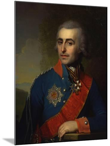 Portrait of the General-Aide-De-Camp Count Pyotr Tolstoy (1761-184)-Vladimir Lukich Borovikovsky-Mounted Giclee Print