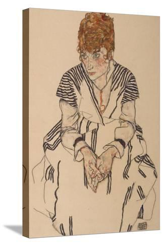 Portrait of the Artist's Sister-In-Law, Adele Harms, 1917-Egon Schiele-Stretched Canvas Print