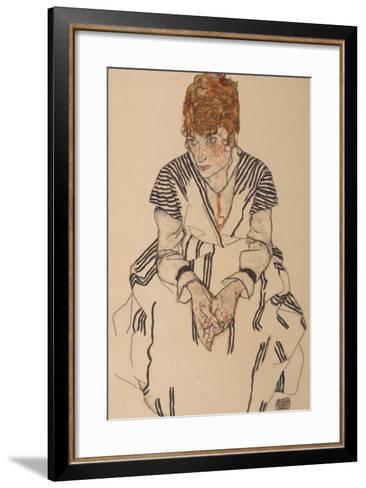 Portrait of the Artist's Sister-In-Law, Adele Harms, 1917-Egon Schiele-Framed Art Print