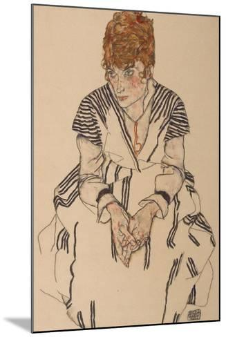 Portrait of the Artist's Sister-In-Law, Adele Harms, 1917-Egon Schiele-Mounted Giclee Print