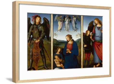 Three Panels from an Altarpiece, Certosa, C. 1500-Perugino-Framed Art Print