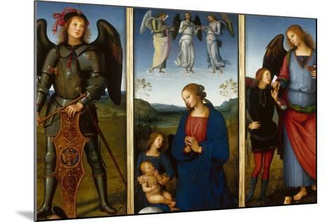 Three Panels from an Altarpiece, Certosa, C. 1500-Perugino-Mounted Giclee Print