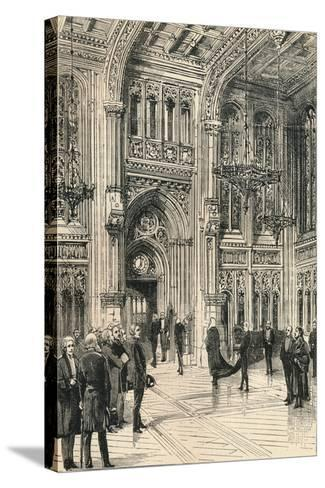 The Lobby of the House of Commons, C1910--Stretched Canvas Print