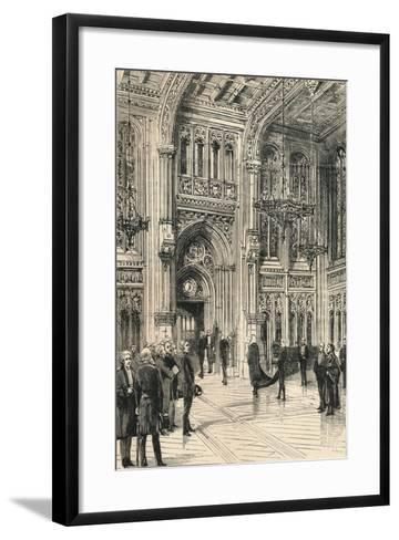 The Lobby of the House of Commons, C1910--Framed Art Print