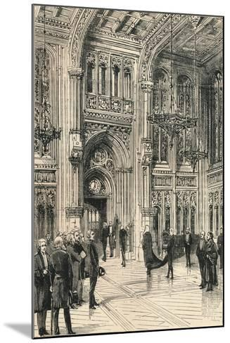 The Lobby of the House of Commons, C1910--Mounted Giclee Print