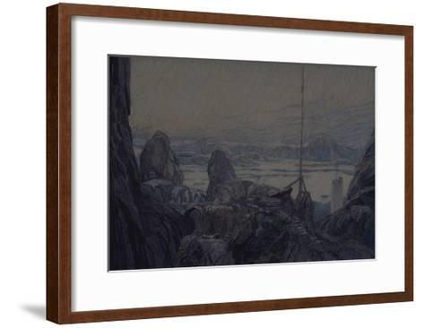Stage Design for the Theatre Play the Lady from the Sea by H. Ibsen, 1905-Alexander Yakovlevich Golovin-Framed Art Print