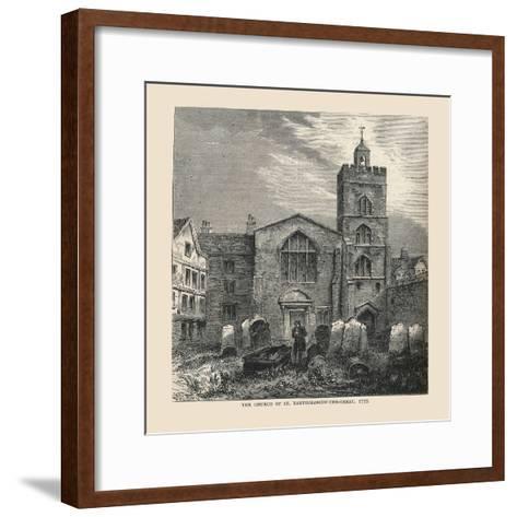 The Church of St, Bartholomew-The-Great, 1737--Framed Art Print