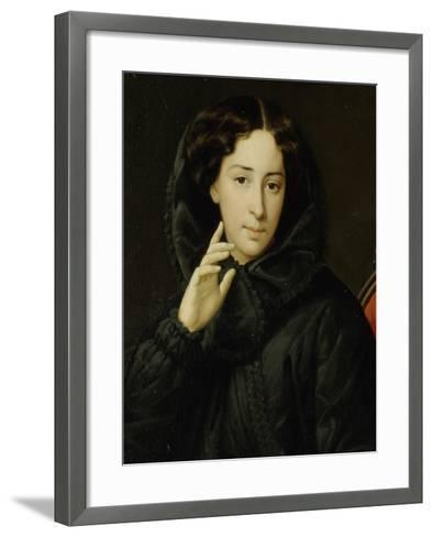 Portrait of the Actress of the Imperial Theatre Vera Samoylova, Mid of the 19th C--Framed Art Print