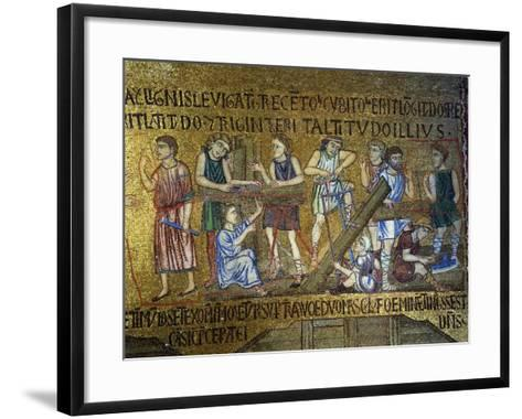 Story of Noah: the Building of the Ark, 11th Century--Framed Art Print