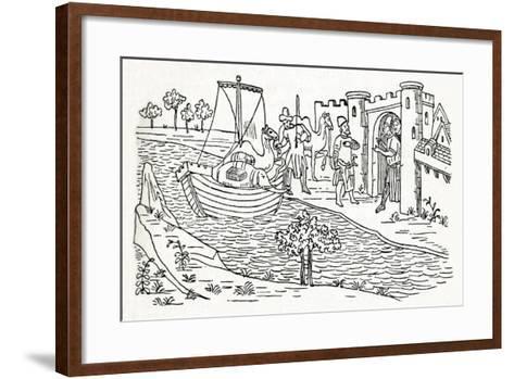 Marco Polo Lands at Ormuz, (C1300), 1912--Framed Art Print